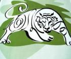 El tigre, signo del tigre, el Año del Tigre. El tercer signo de los doce animales del horóscopo chino