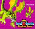 Jungle Dragon. Invizimals La otra dimensión. Los dragones de la jungla tienen una potente arma, un ácido que escupen contra el enemigo