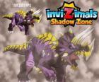 Triceratops. Invizimals La otra dimensión. Invizimals hervíboro con gran fuerza y bravura