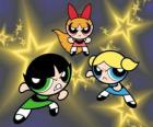 Las supernenas o las chicas superpoderosas volando entre las estrellas gracias a sus superpoderes