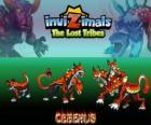 Cerberus, última evolución. Invizimals Las Tribus Perdidas. Temible y terrible perro de tres cabezas