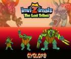 Cyclops, última evolución. Invizimals Las Tribus Perdidas. Los gigantes con un ojo son bondadosos pero también pueden ser brutales