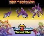 Dark Tiger Shark, última evolución. Invizimals Las Tribus Perdidas. El lado oscuro del amo de los Invizimals no es una criatura malvada