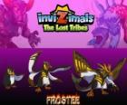 Frostee, última evolución. Invizimals Las Tribus Perdidas. Pingüino alegre y optimista que quiere vivir nuevas aventuras