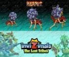 Hermit, última evolución. Invizimals Las Tribus Perdidas. Estos tímidos Invizimals viven en el agua de las más profundas cuevas