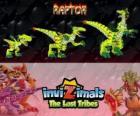 Raptor, última evolución. Invizimals Las Tribus Perdidas. Peligroso cazador ya que es rápido, inteligente y agresivo