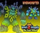 Snowcaster. Invizimals Las Tribus Perdidas. El señor supremo del hielo, un sabio místico y poderoso que vive en los glaciares