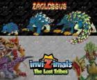Zaglossus, última evolución. Invizimals Las Tribus Perdidas. Invizimal parecido a un puerco espín