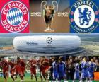 Bayern Munich vs Chelsea FC. Final UEFA Champions League 2011-2012. Allianz Arena, Munich, Alemania