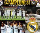 Real Madrid, campeón de la liga española de fútbol 2011-2012