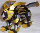 El Zord León. Power Ranger Amarillo. Ninja Power Rangers