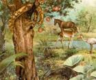 El Demonio en forma de serpiente en el Árbol de la Ciencia del bien y del Mal