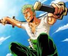 Roronoa Zoro es un espadachín especialista en el combate con tres espadas