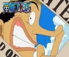 El pirata Usopp es un personaje astuto, bromista y fanfarrón