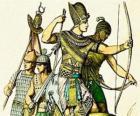 Soldado egipcio con un arco