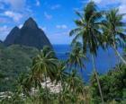 Las Montañas Pitons, isla de Santa Lucía