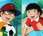 El futbolista Oliver y su amigo Benji que juega de guardameta