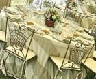 Todo preparado para el banquete de boda