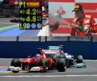 Fernando Alonso celebra su victoria en el Gran Premio de Europa (2012)