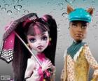 Draculaura y Clawd Wolf, pareja monstruosa en el instituto Monster High