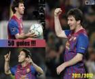 Leo Messi, máximo goleador de la historia de la liga Española, 2011 - 2012