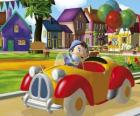 Noddy conduciendo su coche