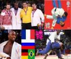 Podio Judo masculino más de 100 kg