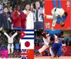 Podio Judo femenino más de 78 kg