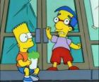 Bart Simpson y Milhouse Van Houten, dos grandes amigos
