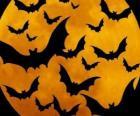 Murciélagos para la celebración del Halloween