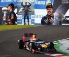 Sebastian Vettel celebra su victoria en el Gran Premio de Japón 2012