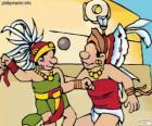 El juego de pelota era un ritual maya, la lucha de los jugadores para pasar la pelota por el aro de piedra