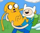 Finn y Jake, los protagonistas principales de Hora de Aventuras