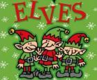 Tres pequeños duendes de Papá Noel