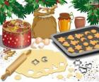 Preparando las galletas navideñas