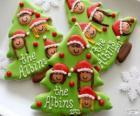 Galletas navideñas en forma de árbol de Navidad