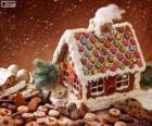 Dulce y bonita casita, de pan de jenjibre