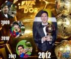 Lionel Messi Balón de Oro FIFA 2012
