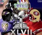 Super Bowl 2013. San Francisco 49ers vs. Baltimore Ravens. Superdome, Nueva Orleans