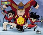 Los cuatro jovenes monjes, protagonistas de Xiaolin Showdown, Duelo Xiaolin