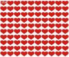100 corazones, cien corazones para celebrar el día de los enamorados, San Valentín