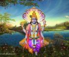 Vishnú, dios preservador del Trimurti