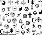 Algunos símbolos de las diversas religiones del mundo