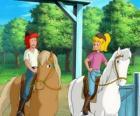 Bibi y Tina, dos chicas muy aficionadas a los caballos