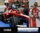 Fernando Alonso celebra su victoria en el Gran Premio de la China 2013