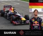 Sebastian Vettel celebra su victoria en el Gran Premio Bahréin 2013