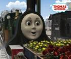 Emily, la locomotora verde esmeralda es el miembro más nuevo del equipo de las locomotoras a vapor