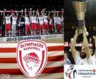 Olympiacos Pireo, campeón Euroliga Baloncesto 2013