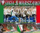 Legia de Varsovia, campeón Ekstraklasa 2012-2013, liga de fútbol de Polonia