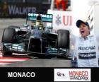Nico Rosberg celebra su victoria en el Gran Premio de Mónaco 2013
